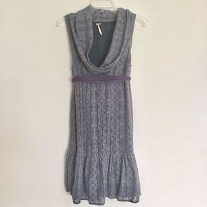Free People Irish Lace Cowl Neck Dress